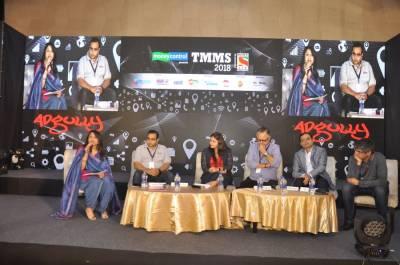 L to R: Megha Tata, Ashutosh Joshi, Mayoori Kango, Partho Dasgupta, Sujit Ganguly, Tarun Katial