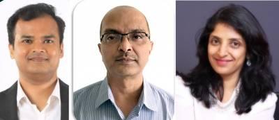 L-R: Sandeep Walunj, Kishore Tadepalli, Sowmya Iyer