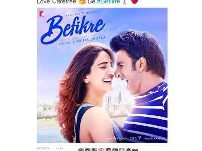 Yash Raj Films gets first ever emoji for a Bollywood film from Twitter for #Befikre
