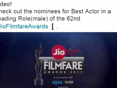 Twitter joins forces with Filmfare to celebrate the 62nd Jio Filmfare Awards