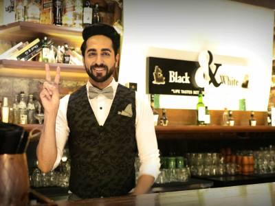 Ayushmann Khurrana plays bartender for Black & White Scotch whisky