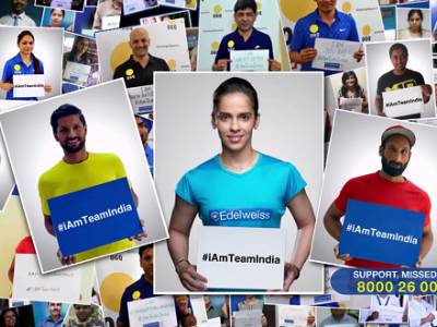 Edelweiss #iAmTeamIndia campaign to support Indian Olympic Team launches an anthem and a Greetings E-book