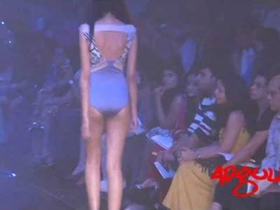 LFW Winter/Festive 2012 | Shivan & Narresh's collection inspired by DHL's speed theme