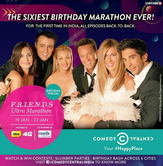 F I N D S: Comedy Central Celebrates Its 6th Birthday With F.R.I.E.N.D.S
