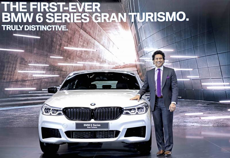 Celebrities At 2016 Auto Expo Sachin Tendulkar Ranbir: The First-ever BMW 6 Series Gran Turismo Launched In India