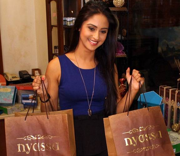 Television Star Krystle D'souza Spotted Shopping For